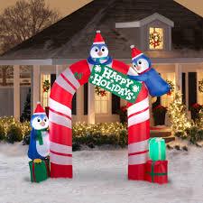 gemmy airblown inflatables christmas gemmy airblown 10 5 u0027 penguin