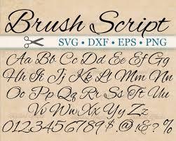 calligraphy font brush script calligraphy font monogram svg dxf eps png