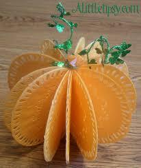 paper pumpkins a little tipsy