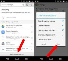 how do i clear cookies on my android phone how to clear your search history on android android 201