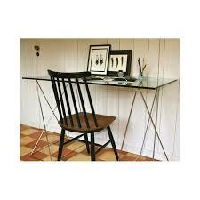 bureau verre design bureau design verre et métal home mobilier tendance fanette
