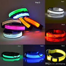 Nylon LED Pet Dog Collar Night Safety Flashing Glow In The Dark Dog