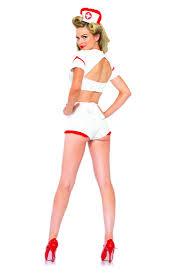 Nurse Halloween Costume White Red 3 Pc Aid Flirt Nurse Costume