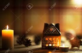 Lights Inside House House Cake With Candle Light Inside And
