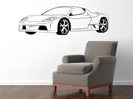 wall decals stickers home decor home furniture diy race car 580x1800mm vinyl wall sticker decal
