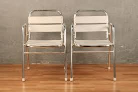 Armchairs Online Pair Of Chrome And Aluminum Outdoor Armchairs U2013 Online Only
