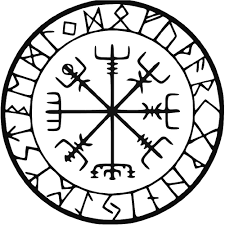 viking protection runes vegvisir compass meval vinyl decal sticker