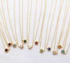 birthstone necklace birthstone necklace l u v v i 9