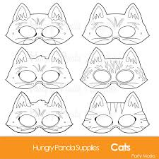 cats printable coloring masks cat masks kitty mask kitten