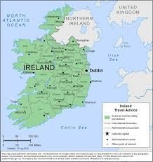 Ireland On Map Smartraveller Gov Au Ireland