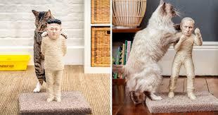 Cool Cat Scratchers Putin And Kim Jong Un Become Cat Scratching Posts Bored Panda