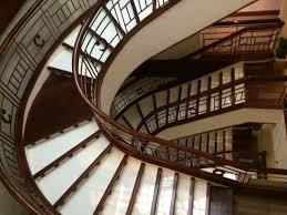 spiral stairway leading up to the hotel rooms picture of hotel