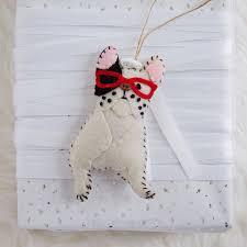 west elm aspca felt animal ornaments milk