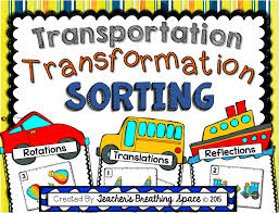 transformations sorting translation reflection rotation