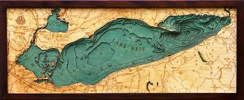 custom wood charts of lake erie from carved lake nautical
