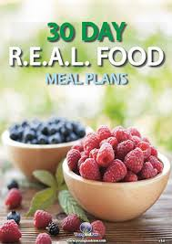 30 day r e a l food meal plans