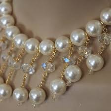 chunky pearl bib necklace images Bridal pearl bib necklace pearl chokers bridal jewellery jpg