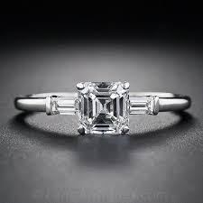 vintage square engagement rings 81 carat square emerald cut vintage engagement ring