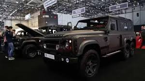 kahn land rover defender kahn tv land rover defender flying huntsman 6x6 concept unveiled