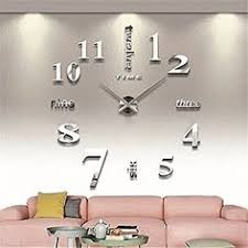horloge pour cuisine moderne 3d diy horloge murale moderne pendule pour décoration miroir salon