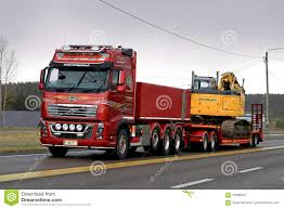 volvo fh 2016 price red volvo fh16 750 transports crawler excavator in the evening