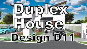 duplex house design d11 new model has beeen added a roof in the