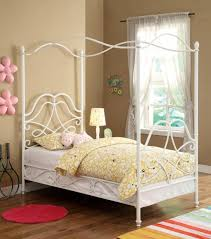 bedroom twin canopy bed and optional trundle with white bedroom impressive white gloss twin canopy bed with round mat in pink color and desk