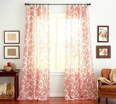 Coral Sheer Curtains Coral Colored Curtains Coral Colored Curtains With Style