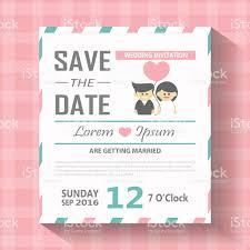 Format Of Wedding Invitation Card Cute Wedding Invitation Card Template Vector Illustration Stock