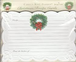 buy carol wilson 15 ct embossed christmas recipe cards wreath in