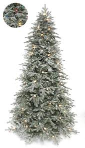 artificial christmas trees multi colored lights the holiday aisle frosted stowe lit 7 5 green spruce artificial