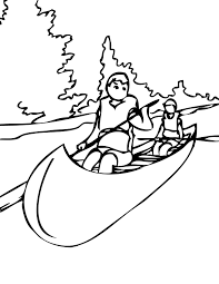 canoe trip free coloring page u2022 kids sports coloring pages