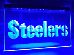 steelers home decor la145 pittsburgh steelers logo bar led neon light sign home decor