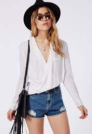 white wrap blouse missguided wrap blouse white where to buy how to wear