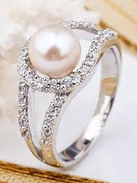 best pearl rings images 183 best pearl engagement rings images pearl rings jpg