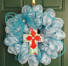 white deco mesh blue and white deco mesh wreath with deco flex tubing bow deco
