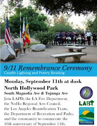 Los Angeles Neighborhood Council Map by 9 11 Remembrance Ceremony At North Hollywood Park North