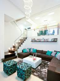 Turquoise Living Room Decor Bold Inspiration Brown And Turquoise Living Room Creative Design