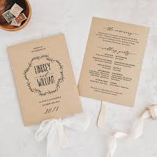 simple wedding program wedding order of service wording template what to include exles
