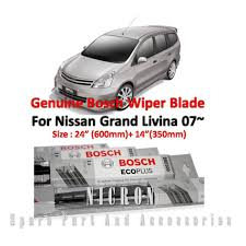 nissan grand livina spare parts promotion nissan livina 07 size 24 14 genuine bosch wiper blades