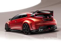 2014 honda hatchback honda civic type r concept automotive rendering