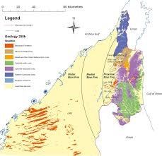 United Arab Emirates Map Near Surface Diagenesis Of Ophiolite Derived Conglomerates Of The