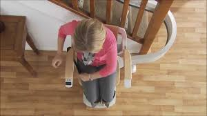 acorn 180 curved stairlift demonstration youtube