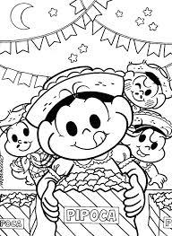 Super Desenho da Turma da Mônica na Festa Junina — Colorir.org #MY05