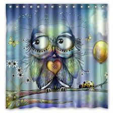 Owl Fabric Shower Curtain Discount Owls Shower Curtains 2017 Owls Shower Curtains On Sale