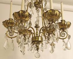 Crystal Chandelier French Bagues Style Brass And Crystal Chandelier For Sale At 1stdibs