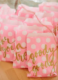 pink gift bags pink gold glittery s party ideas bachelorette