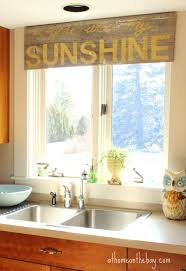 kitchen window treatments over sink