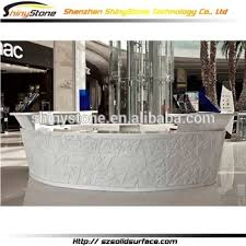 Circular Reception Desk Modern Circular Shape Solid Surface Round Reception Desk Buy
