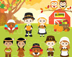 pilgrim turkeys thanksgiving digital clipart for